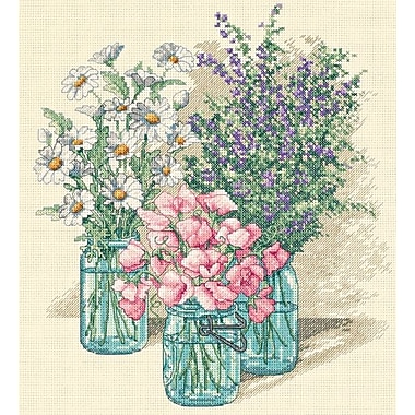 Wildflower Trio Counted Cross Stitch Kit, 11