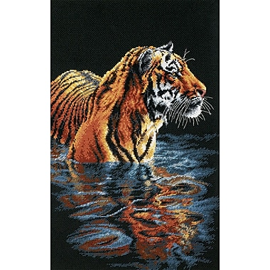 Tiger Chilling Out Counted Cross Stitch Kit, 9