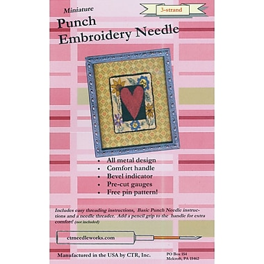 Miniature Punch Embroidery Needle, Red 3-Strand