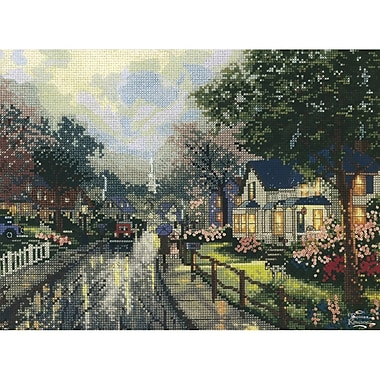 Thomas Kinkade Hometown Memories Counted Cross Stitch Kit, 12