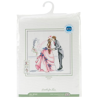 Bride And Groom Counted Cross Stitch Kit, 8