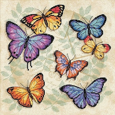 Butterfly Profusion Counted Cross Stitch Kit, 11