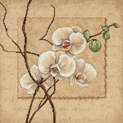 """Oriental Orchids Counted Cross Stitch Kit, 12""""X12"""" 14 Count"""