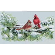 "Winter Cardinals Counted Cross Stitch Kit, 15""X9"" 16 Count"
