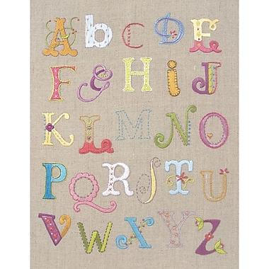 Alphabet Sampler Free Style Embroidery Kit, 12