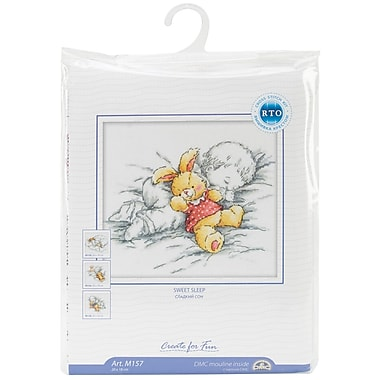 Baby W/Rabbit Counted Cross Stitch Kit, 8