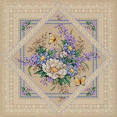 Flowers And Lace Counted Cross Stitch Kit, 14