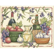 "Tuscan Flavors Counted Cross Stitch Kit, 14""X11"" 14 Count"