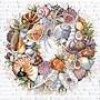 Seashell Wreath Counted Cross Stitch Kit, 14X14 14