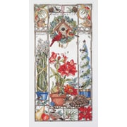 """Winter Cat Sampler Counted Cross Stitch Kit, 8""""x16"""" 14 Count"""