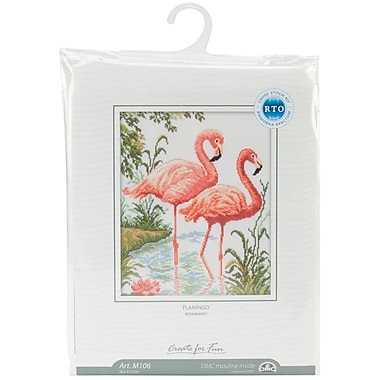 Flamingos Counted Cross Stitch Kit, 10-1/4