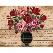 "Parisian Bouquet Crewel Kit, 14""X11"" Stitched In Wool & Thread"