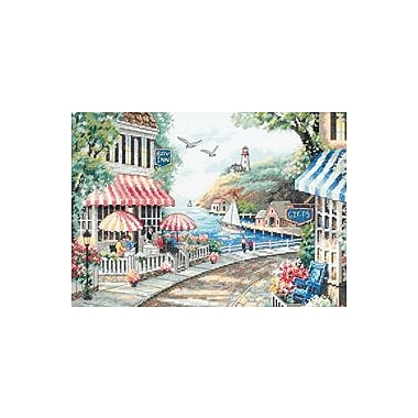 Cafe By The Sea Counted Cross Stitch Kit, 14