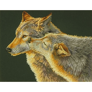 Wolf Kiss Counted Cross Stitch Kit, 14