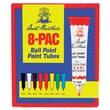 Aunt Martha's Ballpoint Paint Tubes, Assorted Colors