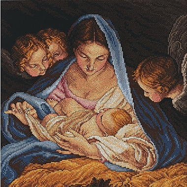 Madonna And Angels Counted Cross Stitch Kit, 12