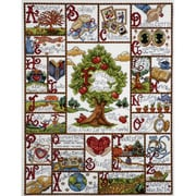"""Families ABC Counted Cross Stitch Kit, 16""""X20"""" 14 Count"""