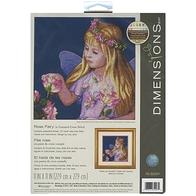 """""Rose Fairy Counted Cross Stitch Kit, 11""""""""X11"""""""" 14 Count"""""" 32126"
