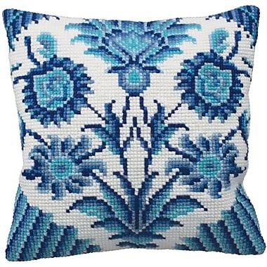 Zelliges Droite Pillow Cross Stitch Kit, 15-3/4