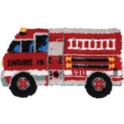 """Latch Hook Kit 32""""X17"""", Fire Truck"""