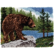 "Classics Latch Hook Kit 20""X30"", Grizzly Bear"