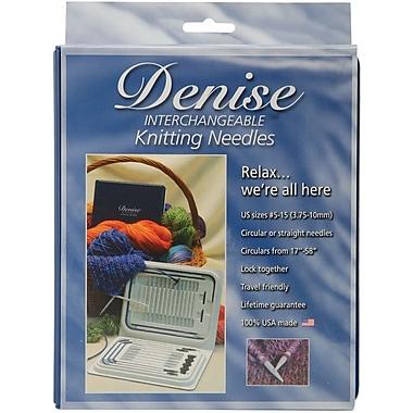 Denise Interchangeable Knitting Needles Kit, Blue
