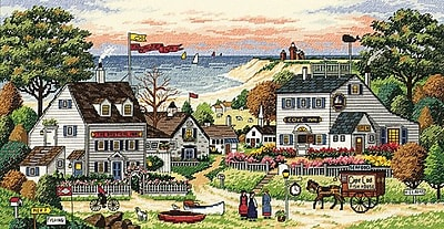 """""""""""Gold Collection Cozy Cove Counted Cross Stitch Kit, 18""""""""""""""""X9"""""""""""""""" 18 Count"""""""""""" 33359"""