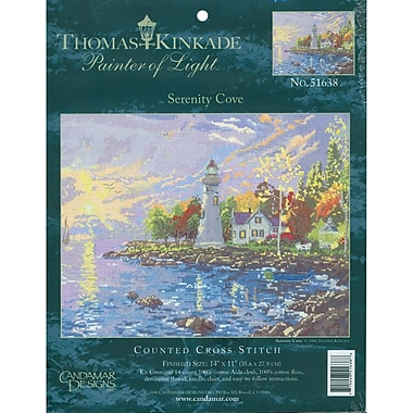 Thomas Kinkade Serenity Cove Counted Cross Stitch Kit, 14