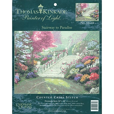 Thomas Kinkade Stairway To Paradise Counted Cross Stitch Kit, 14in.X10in. 14 Count
