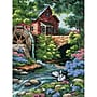 Old Mill Cottage Needlepoint Kit, 12x16 Stitched In