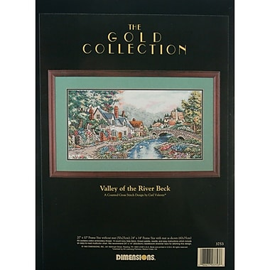 Gold Collection Valley Of The River Beck Counted Cross Stitch Kit, 20in.X10in. 14 Count
