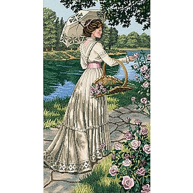 Gold Collection A Summer Stroll Counted Cross Stitch Kit, 10