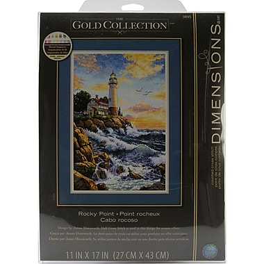 Gold Collection Rocky Point Counted Cross Stitch Kit, 11