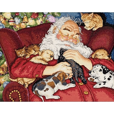 Gold Collection Santa's Nap Counted Cross Stitch Kit, 15