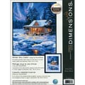 Winter Sky Cabin Needlepoint Kit, 11in.X14in. Stitched In Thread