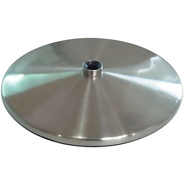 Slimline Table Lamp Base, Brushed Steel