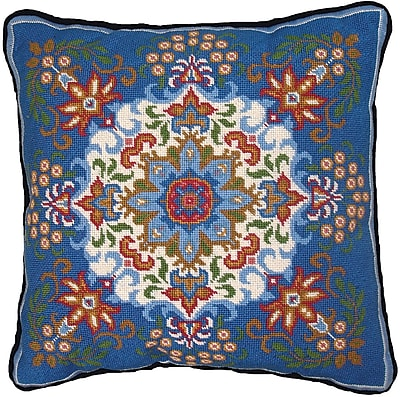 """""Blue Kaleidoscope Needlepoint Kit, 14""""""""X14"""""""" Stitched In Floss"""""" 31183"
