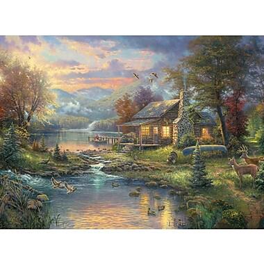 Thomas Kinkade Nature's Paradise Counted Cross Stitch Kit, 16