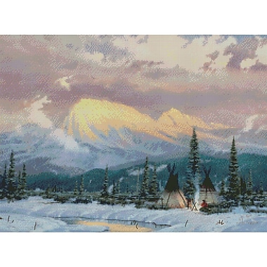 Lingering Dusk Counted Cross Stitch Kit, 16