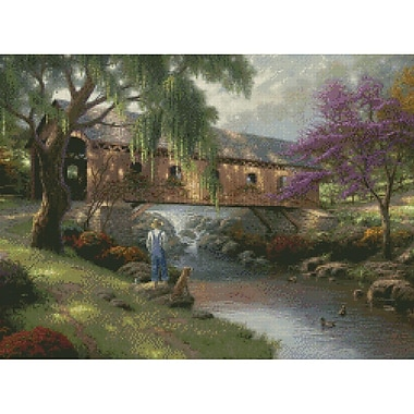 Old Fishing Hole Counted Cross Stitch Kit, 16