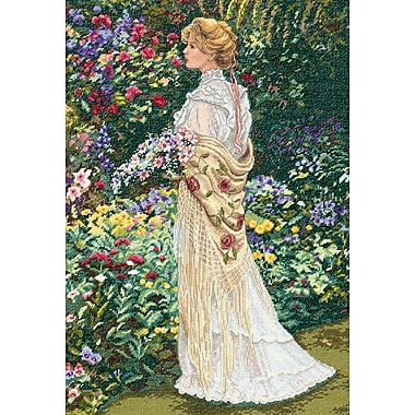 Gold Collection In Her Garden Counted Cross Stitch Kit, 11
