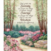 "Gold Collection Serenity, Courage, And Wisdom Counted Cross Stitch Kit, 12""X14"" 18 Count"