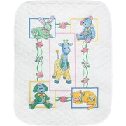 """Baby Hugs Baby's Friends Quilt Stamped Cross Stitch Kit, 34""""X43"""""""