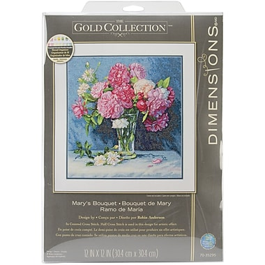 Gold Collection Mary's Bouquet Counted Cross Stitch Kit, 12