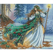"Gold Collection Woodland Enchantress Counted Cross Stitch Kit, 14""X12"" 16 Count"