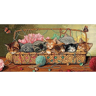 Gold Collection Kitty Litter Counted Cross Stitch Kit, 18