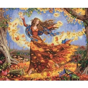 "Gold Collection Fall Fairy Counted Cross Stitch Kit, 14""X12"" 14 Count"