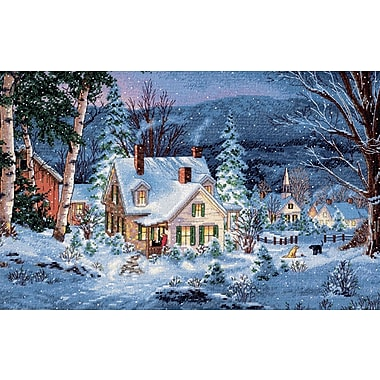 Gold Collection Winter's Hush Counted Cross Stitch Kit, 20