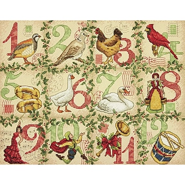 12 Days Of Christmas Counted Cross Stitch Kit, 14