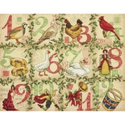 "12 Days Of Christmas Counted Cross Stitch Kit, 14""X11"" 14 Count"